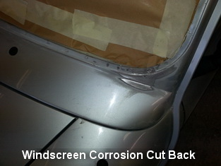 Windscreen Surround Corrosion Cut Back