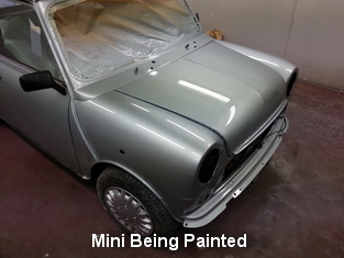 Mini in paint